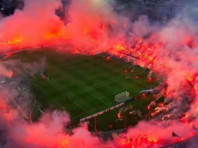 Fans of Galatasaraay during a Football Match