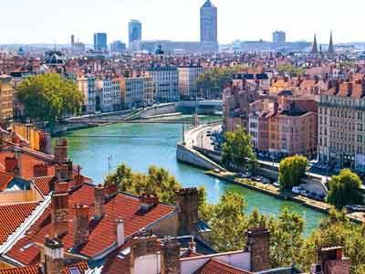 River of Lyon city