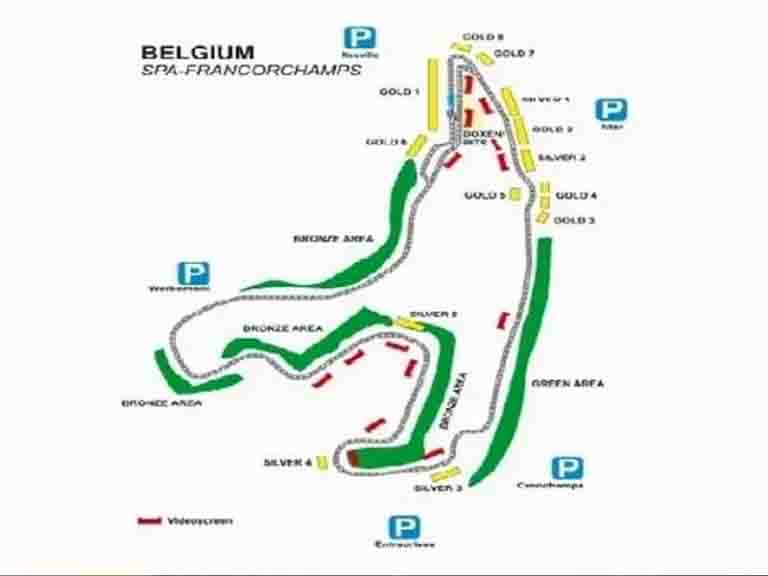 Spafrancorchamps Circuit Map
