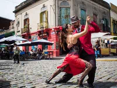 Tango Dance Show on the Street